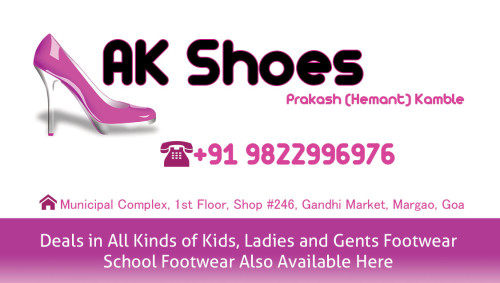 AK Shoes - Footwear Shop Store in Margao, South Goa, Goa